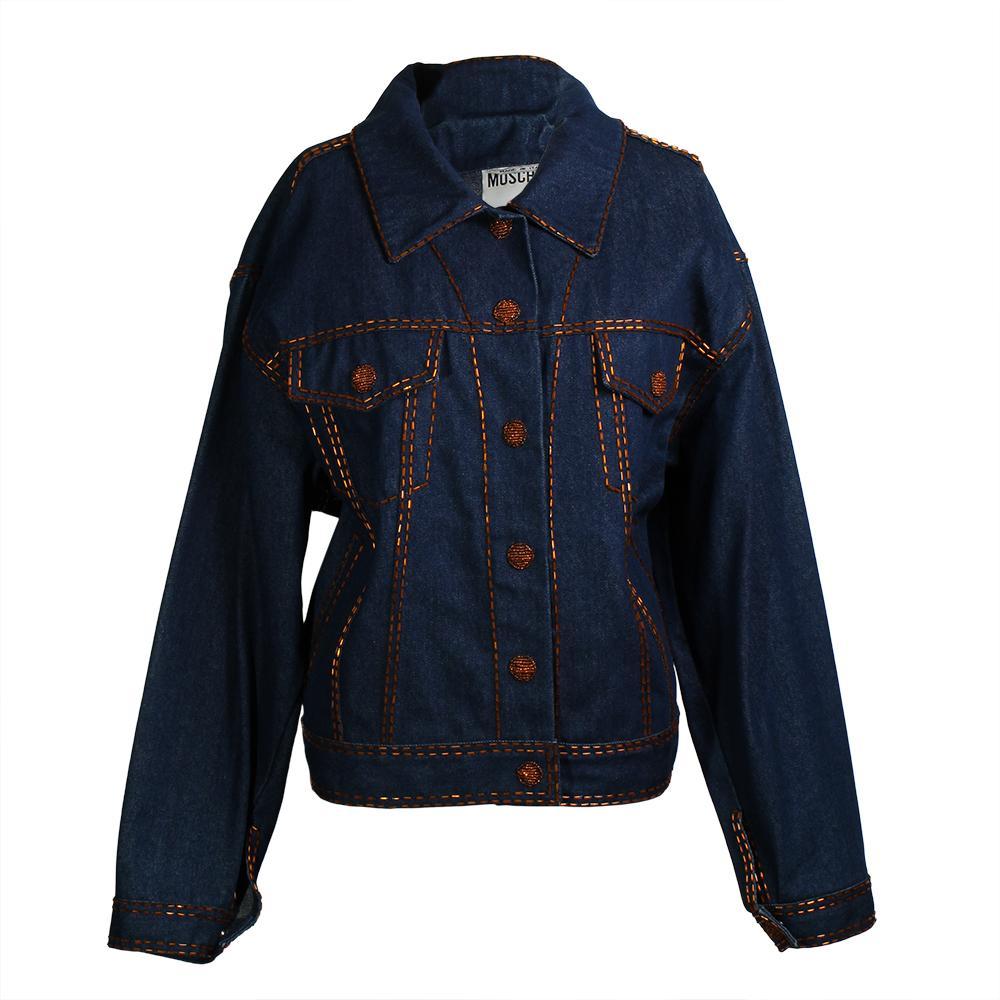 Moschino Couture Size 8 Denim Jacket