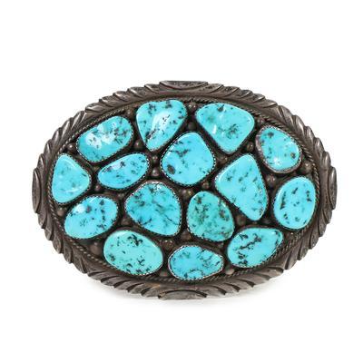 DD Turquoise Belt Buckle