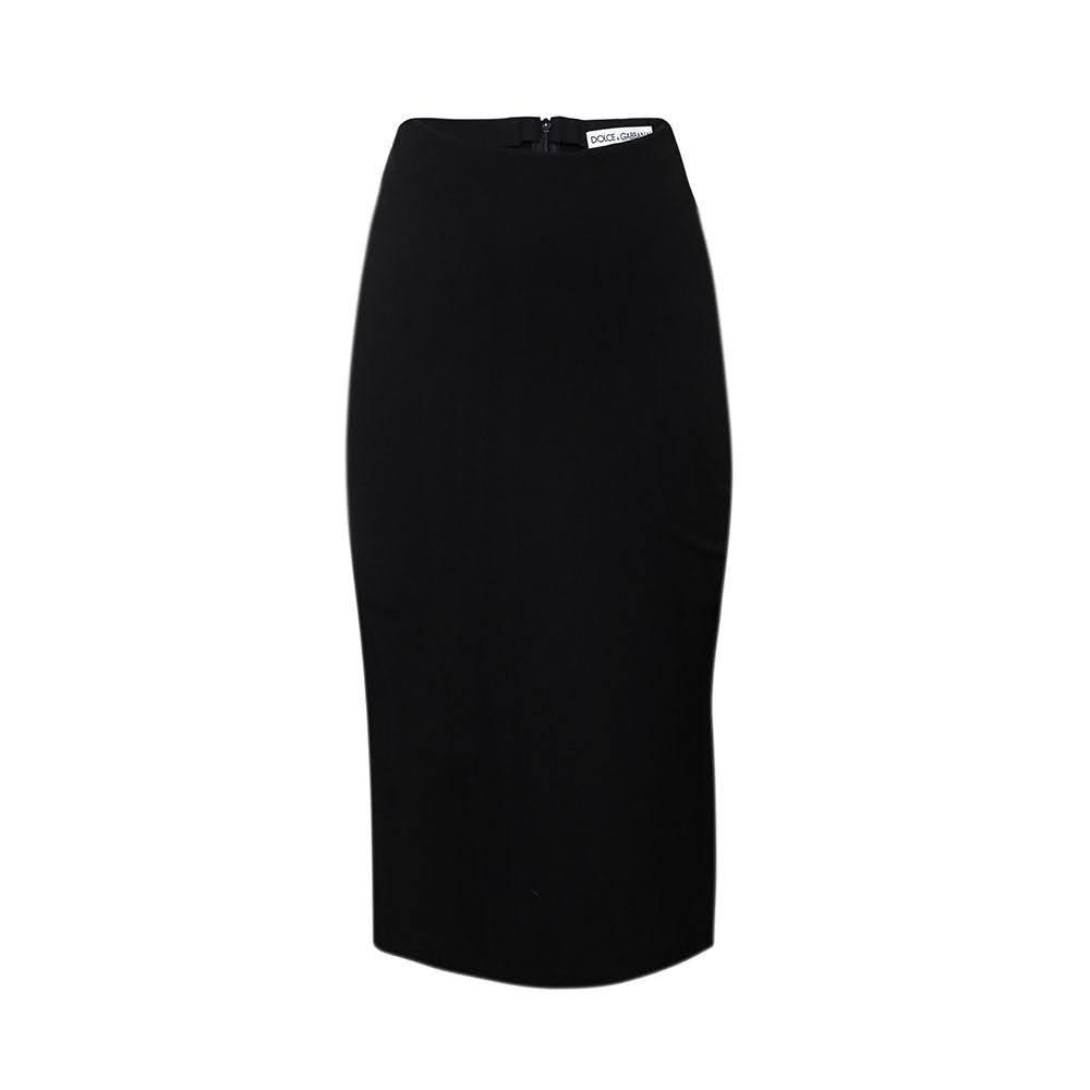 Dolce & Gabbana Size 40 Black Pencil Skirt