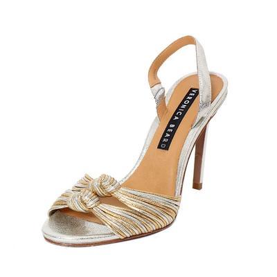 Veronica Beard Size 7 Metallic Alessia Heels