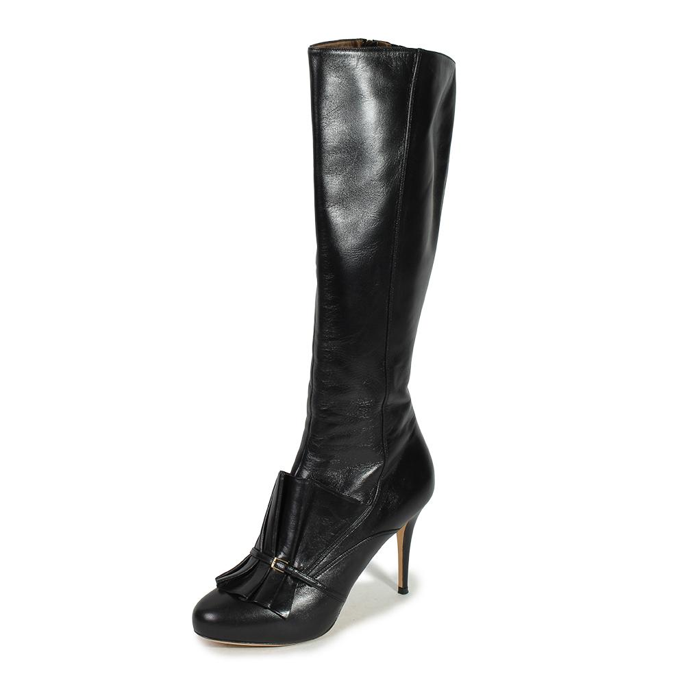 Escada Ruffle Size 10 Tall Boots