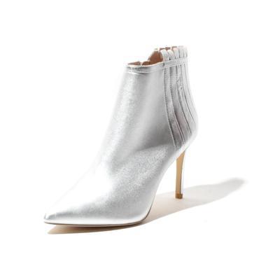 Rachel Zoe Size 8.5 Metallic Silver Booties