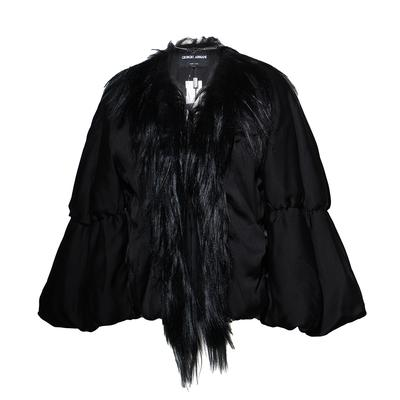 Giorgio Armani Caban Size 42 Fur/Silk jacket