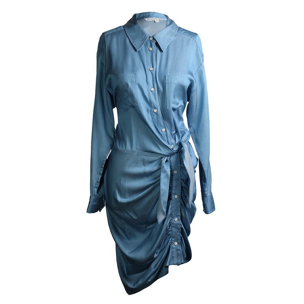 Veronica Beard Size 12 Chambray Dress