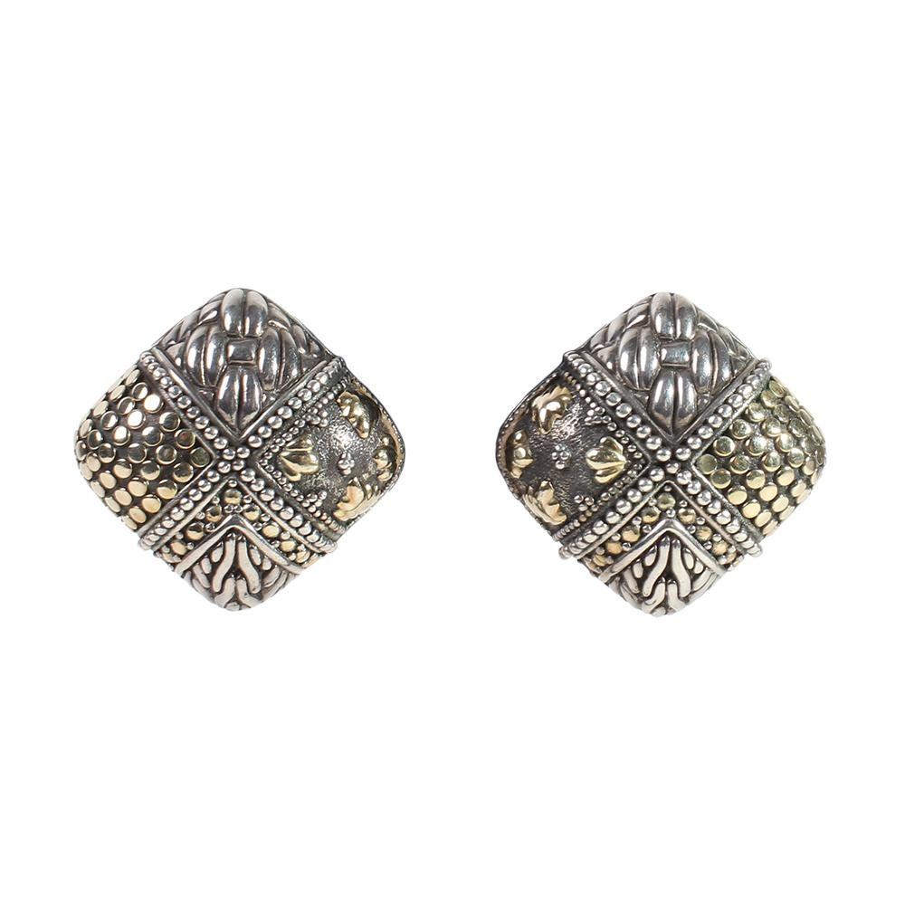 John Hardy Square Earrings