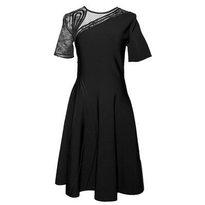 Oscar De La Renta Chantilly Lace Panel Size Large Dress