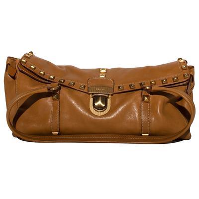 Prada Leather Stud Shoulderbag