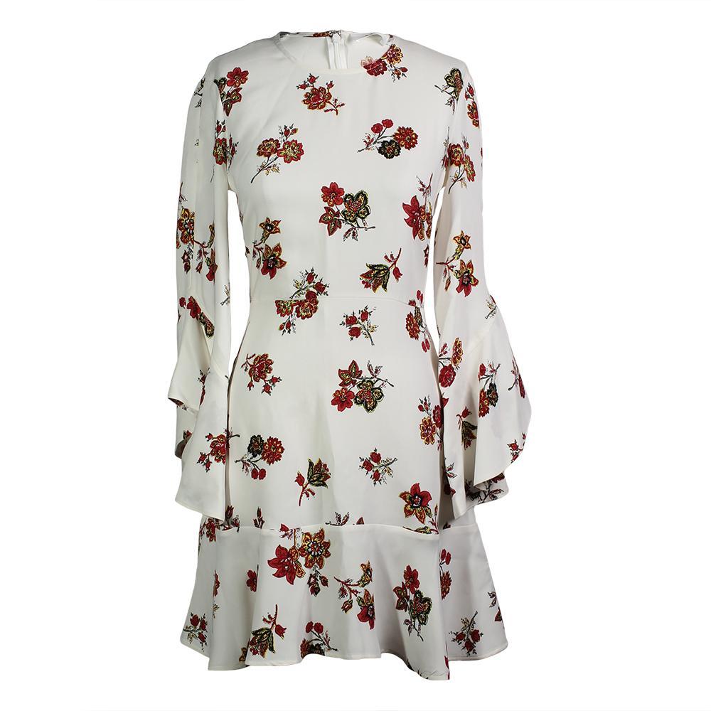 A.L.C.Size 2 Floral Bell Sleeve Silk Dress