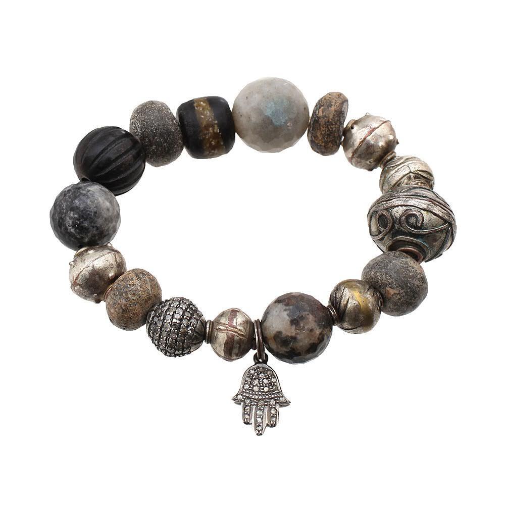 The Woods Diamond Hand Bracelet