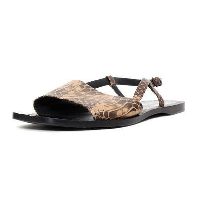 Bottega Veneta Size 9.5 Brown Snakeprint Sandals