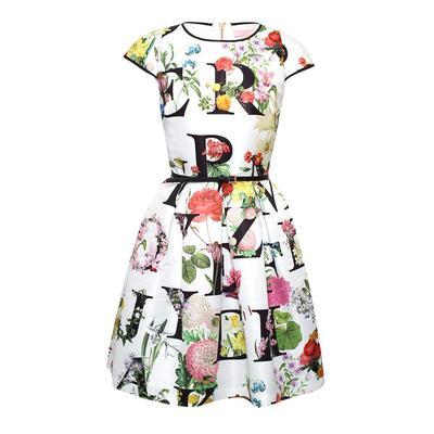 Ted Baker Size 1 Alphabet Print Dress