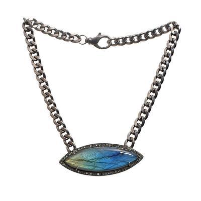 Royal Nomad Blue Diamond Necklace