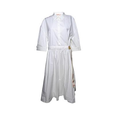 Tory Burch Belted Cotton Shirt Size 12 Dress