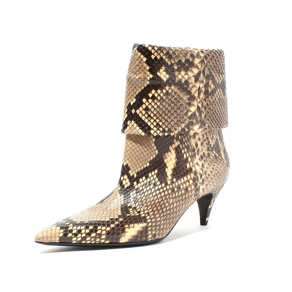 Saint Laurent Python Charlotte Pointed Size 9 Boot