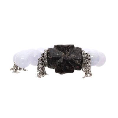 Nan Fusco Bead, Rock & Diamond Bracelet