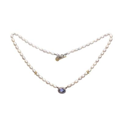 Jane Bohan Pearl & Amethyst Necklace