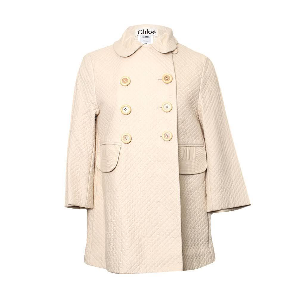 Chloe Size 38 Quilt Leather Jacket