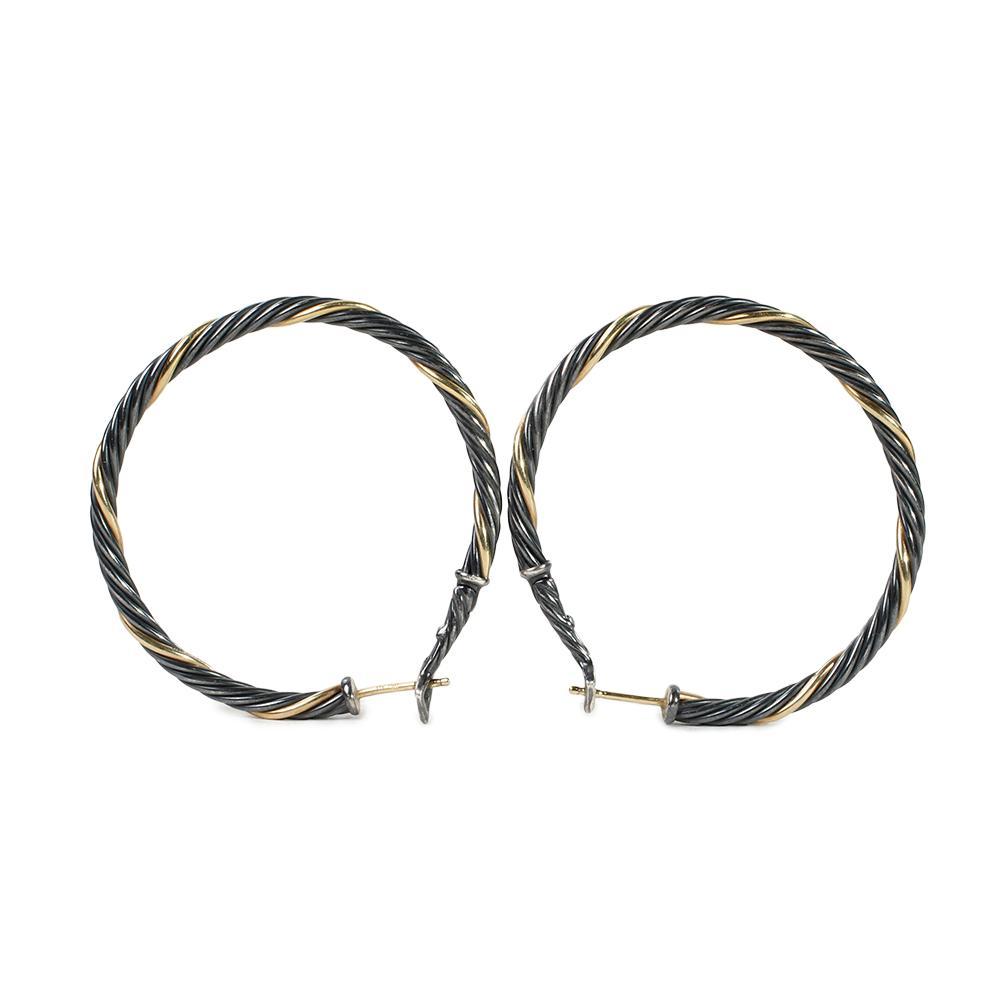 David Yurman Cable Twist Hoop Earrings