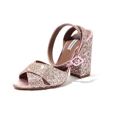 Tabitha Simmons Size 6.5 Glitter Strap Heels