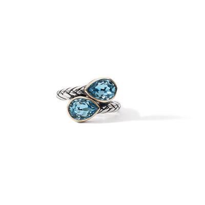 Size 6 14K Blue Crystal Ring