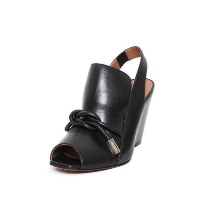 SportMax Size 8 Black Sling Back Mule
