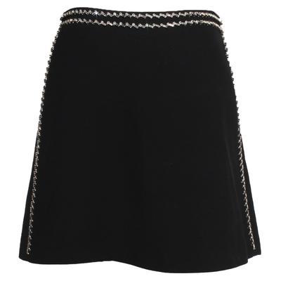 Prada Jeweled Trim Size 42 Skirt