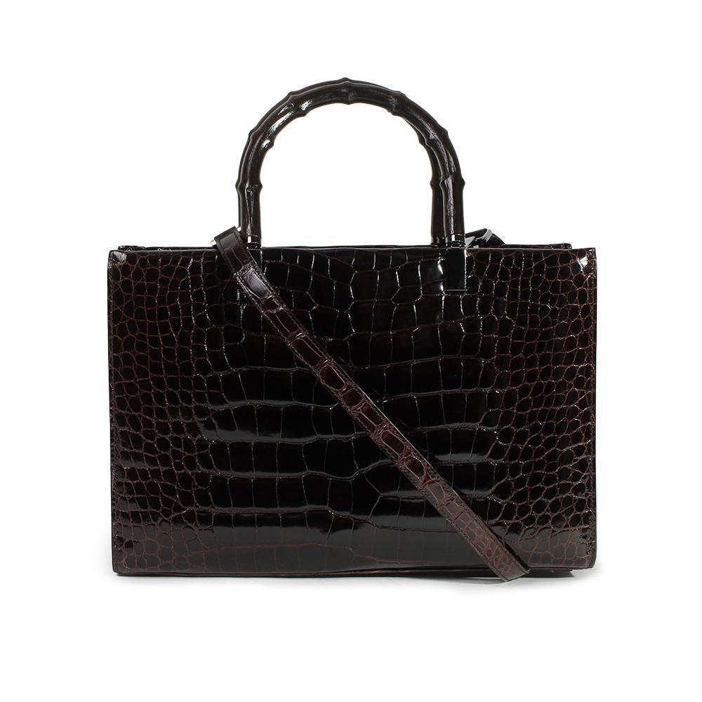 Gucci Vintage Alligator Handbag