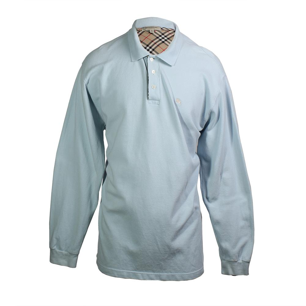 Burberry Size Xl Long Sleeve Polo