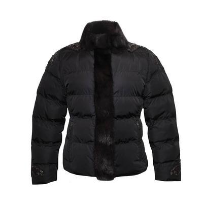 Prada Size Large Black Mink Puffer Jacket
