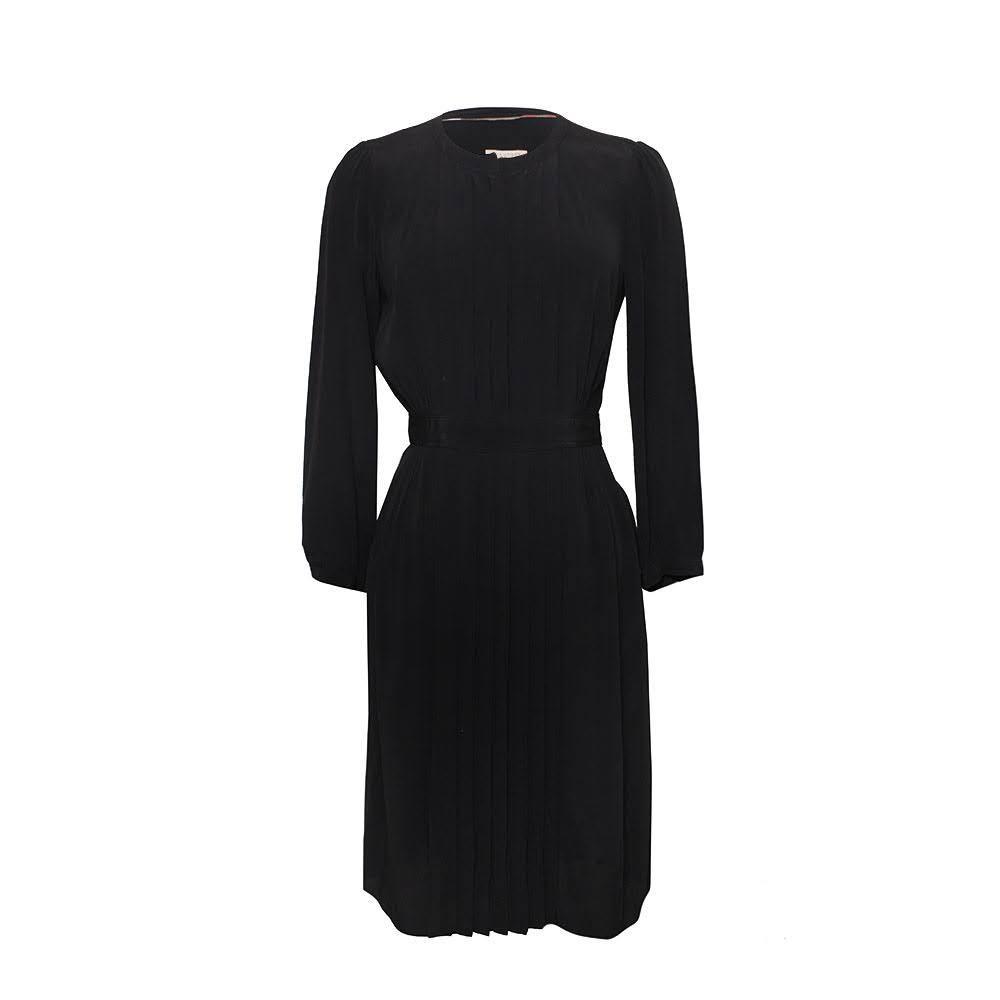 Burberry Brit Size 6 Black Pleated Dress