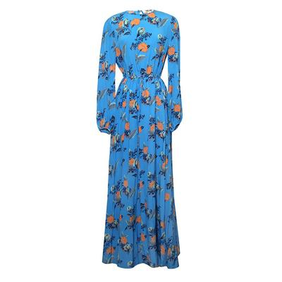 Diane Von Furstenberg Size 4 Silk Floral Maxi Dress