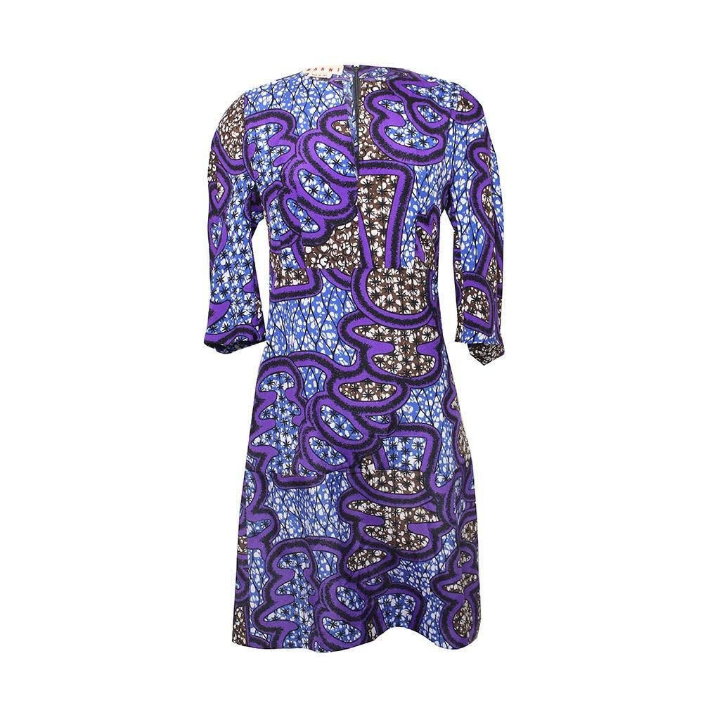 Marni Size Small Purple Print Dress