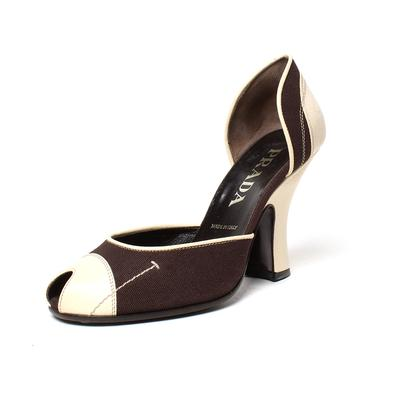Prada Size 6.5 Peep Toe Heel