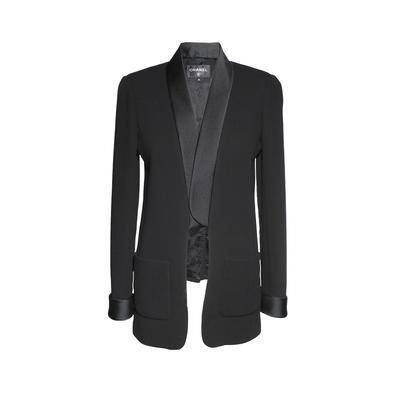Chanel Size 36 Black Open Tuxedo Style Jacket