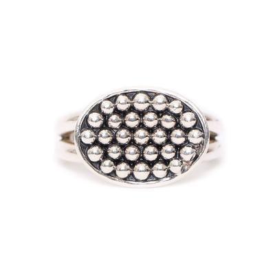 Lagos Silver Caviar Ring