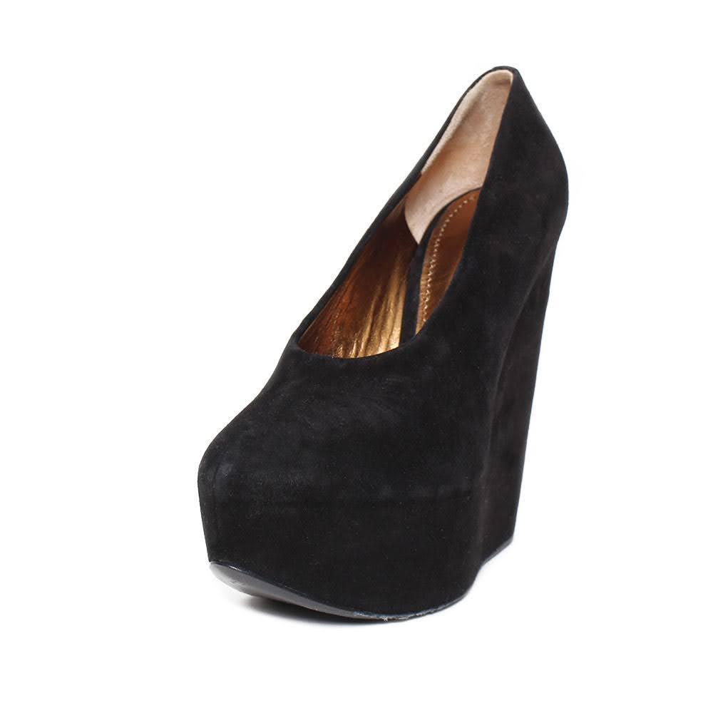 Dolce & Gabbana Black Size 6 Suede Platform