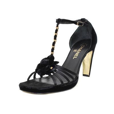 Chanel Size 9 Satin & Velvet Heel