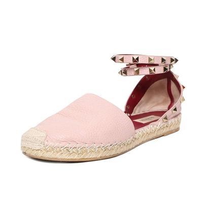 Valentino Size 9 Rockstud Pink Espidrilles