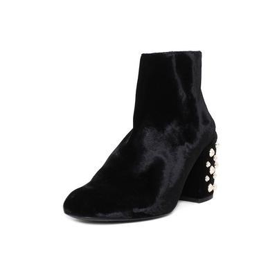 Stuart Weitzman Size 10 Velvet & Pearl Booties