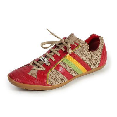 Christian Dior Size 9.5 Diorissimo Rasta Sneakers