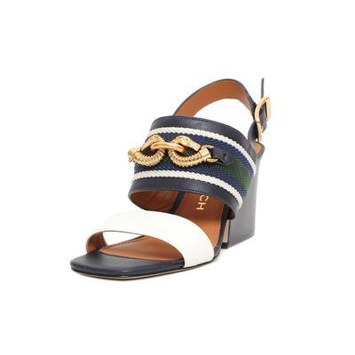 Tory Burch Navy Jessa Size 8 Heel