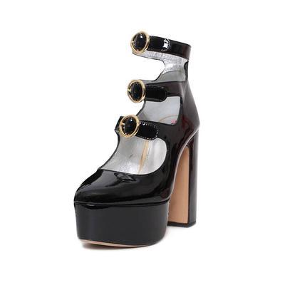 Alexa Chung Patent Platform Size 6 Heels