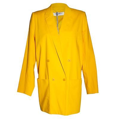 Max Mara Size 10 Yellow Blazer