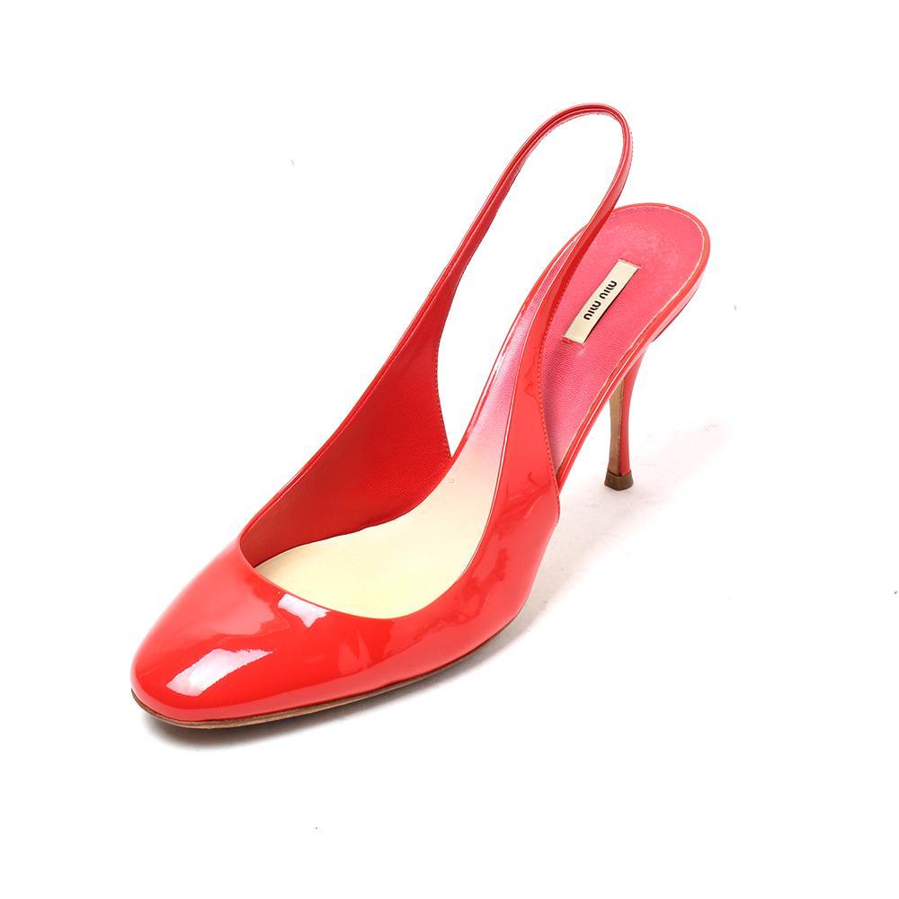 Miu Miu Size 9 Red Patent Heels