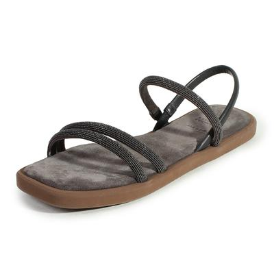 Brunello Cucinelli Size 8 Slingback Suede Sandals