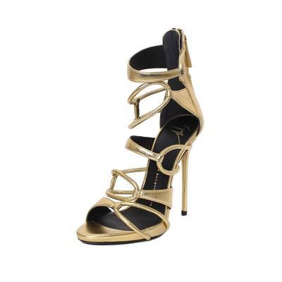 Giuseppe Zanotti Gold Size 7 Heel