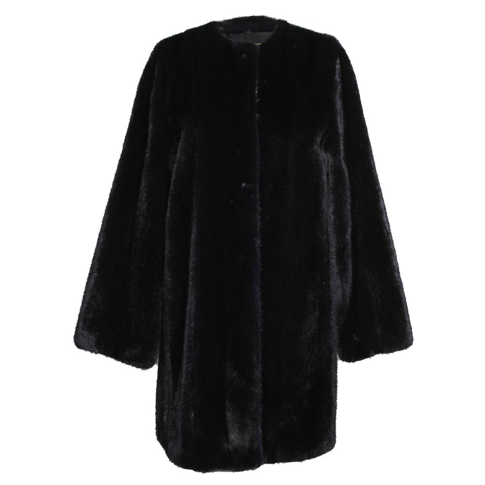 The Row Size 6 Black Mink Coat