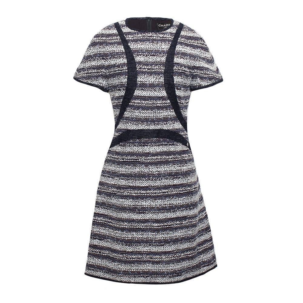 Chanel Size 42 Tweed Dress