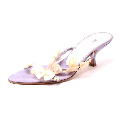 Prada Size 9.5 Camoscio Coquil Slides