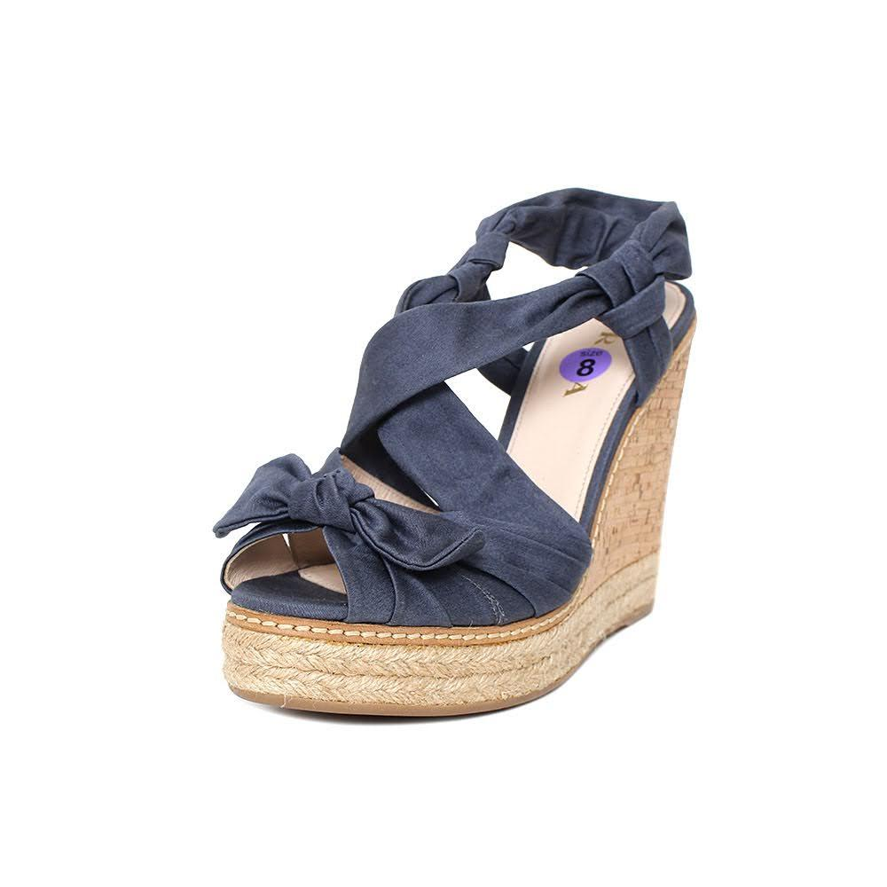 Prada Blue Cork Size 8.5 Wedge